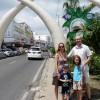 Two pairs of tusks span Moi Avenue, one of Mombasa's main thoroughfares. They were built to commemorate Princess Margaret's visit in 1956.